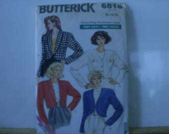 Butterick 6818 Very Easy Jacket