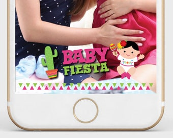 Fiesta Geofilter, Baby Shower Snapchat Filter, Baby Shower Geofilter, Fiesta snapchat filter, Instant download
