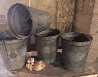 Primitive Tall Sap Buckets