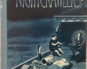 Nightcrawlers, Charles Addams, MCM Cartoons, New Yorker, Artist, Twisted Humor, Hardcover, Dust Jacket, Chill the Spine, Lighten, the Heart