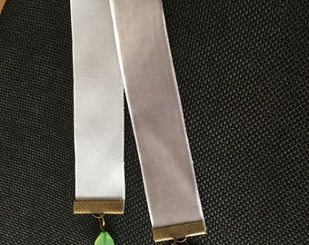 Cross Gray Velvet Ribbon Bookmark