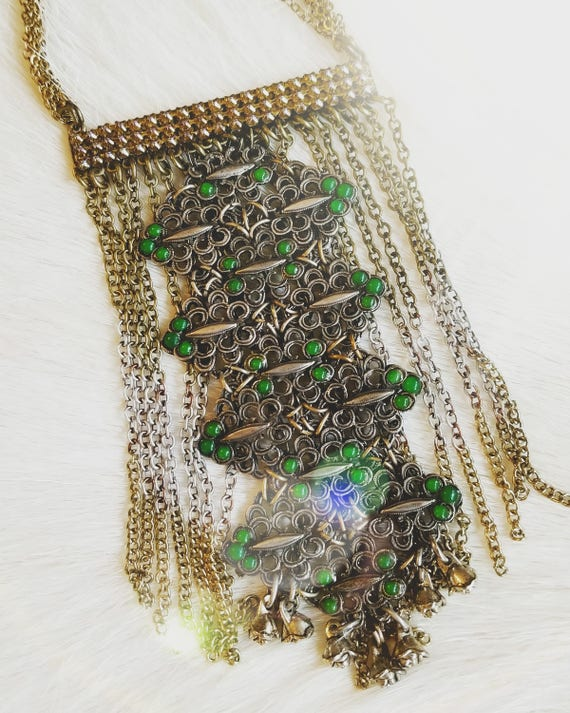 Vintage Gypsy Fringe Necklace