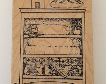 Quilts in the Cupboard Rubber Stamp by Jukebox