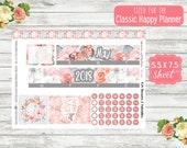 KT18 Blossoms & Butterflies - Choose Any Month - CLASSIC Happy Planner - May Monthly Kit - Date Cover Sticker - Month View Sticker  Monthly