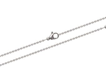 Steel carabiner width 1.20 mm trace necklace chain