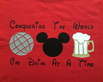 Adult-EPCOT Mickey Beer Shirt