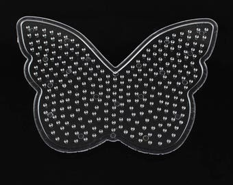 Plate for perler beads: Butterfly-13x10cm about