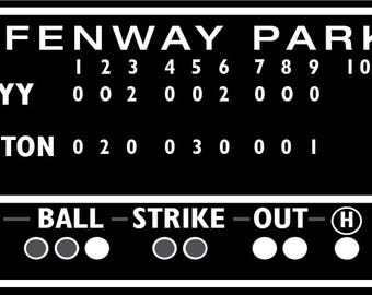 5 1/2  foot Boston Red Sox decor, Green Monster score board