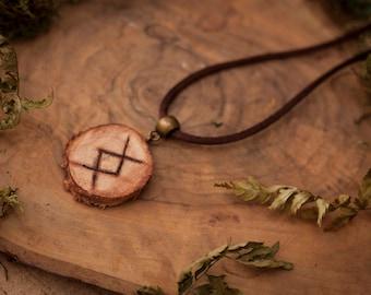 Ingwaz Rune Pendant, Rune Necklace, Viking Pendant, Viking Necklace, Viking Gifts, Yngvi, Viking Jewelry, Viking Costume, Vikings, Amulet