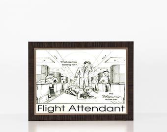 Flight Attendant Digital Print, Digital Download, Flight Attendant Gift, Glamorous Flight Attendant, Flight Attendant Humor,  Funny Aviation