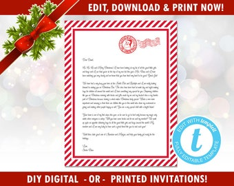 santa stationary etsy