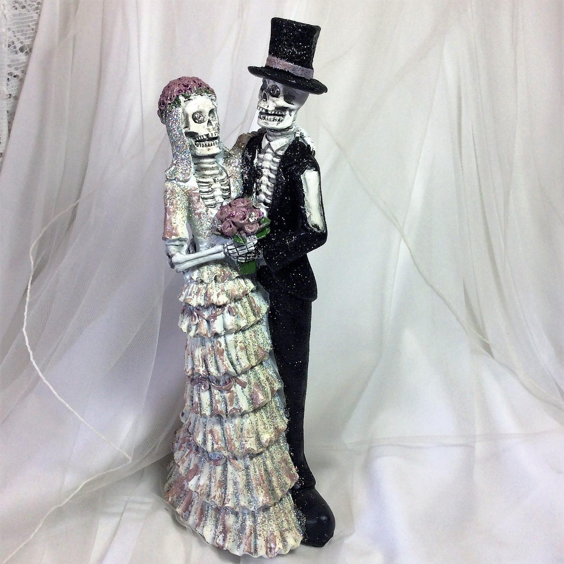Wedding Toppers-CakeTopper-Skeleton Bride/Groom-Skull Wedding-Hand ...