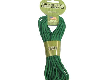 Paracord 550 16ft 4.8M Parachute Cord - Kelly Green