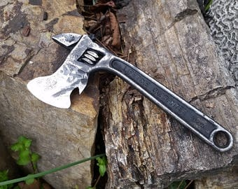 Custom Blacksmith Made Hatches from Antique Wrenches - Many styles to choose, or use your own wrench? Adjustable Wrench