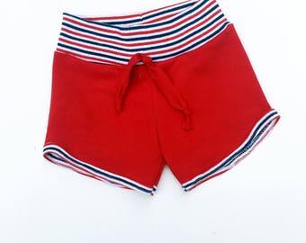 Red Retro Children's Shorts