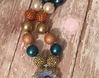Moana Inspired Bubblegum Necklace, Girls necklace, Toddler Necklace