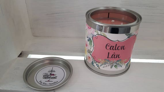 Calon Lan candle.  Bergamot, geranium and musk candle. Vegan candle. Welsh candle.  Soy wax candle.  Mothers Day.  Handmade in Wales, UK
