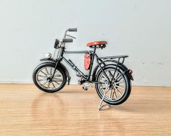 Vintage, black bicycle miniature, shabby, retro collectible, old style bike miniature, alloy rblack, decorative bike, early nineties