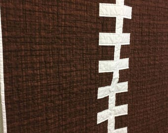 Football baby quilt, wheelchair quilt, made in Canada