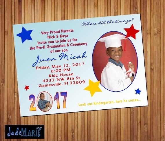kindergarten graduation announcement ceremony invitation