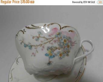 SALE: Bavarian China - Delicate Floral Teacup & Saucer