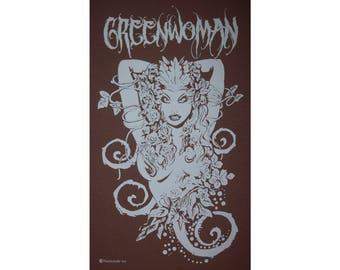 Greenwoman Sheela-Na-Gig Green Woman Goddess Celtic Druid T-Shirt WH