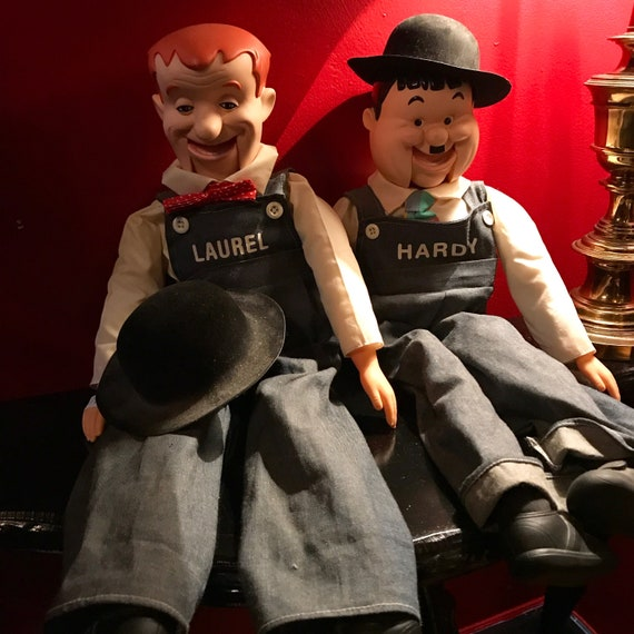 Laurel and Hardy Ventriloquist Dolls
