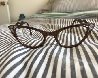 Vintage Bronze winged glasses (frames)