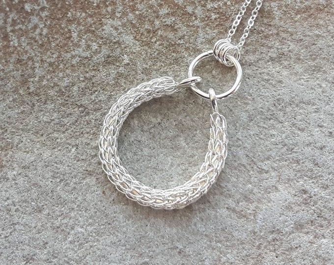 Viking Knit Drop Pendant