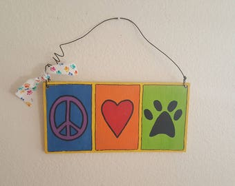 Wood Sign Handpainted Pet Lover Animal Lover Pet Rescue Wall Decor FREE SHIPPING Ready to Ship