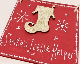 Limited Edition Hand Painted Christmas Signs, Various Designs.