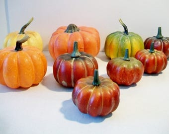 Artificial Pumpkins Fake Fruit Kitchen Home Decor Holiday Crafting Projects Halloween Thanksgiving Harvest
