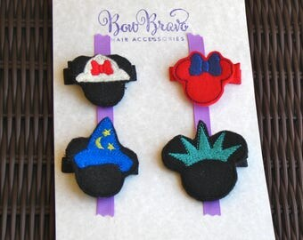 Minnie Mouse Collection-FREE SHIPPING-Wizard Minnie,Statue of Liberty Minnie,Safari Minnie Felt Party Favors-Disney Felt Collection-BowBravo