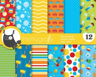 80% OFF SALE Chore boys digital paper, commercial use,  scrapbook papers,  organizing background - PS882