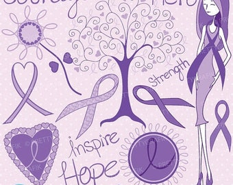 80% OFF SALE cancer clipart commercial use, vector graphics, digital clip art, digital images, pancreatic - CL737