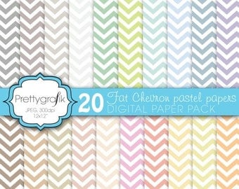 80% OFF SALE chevron digital paper, commercial use, scrapbook papers, background  - PS584