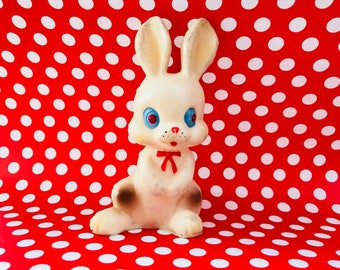 Vintage Bunny Rabbit Squeak Toy Japan Squeaky