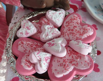 NEW!! American Girl Frosted Heart Cookies with Sprinkles ***