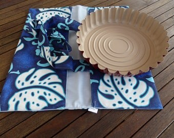 Bag pie Tahitian to carry your pies, cakes and Bowl at your picnic lunch or invitation.
