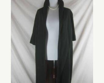 On sale Vtg 50s 60s Bond 5th Ave Designer Black Faille Vintage Swing Clutch Coat