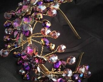 10%off sale Quinceanera Headpiece, wedding tiara, wedding headband tiara, Crystals and diamond Tiara headband
