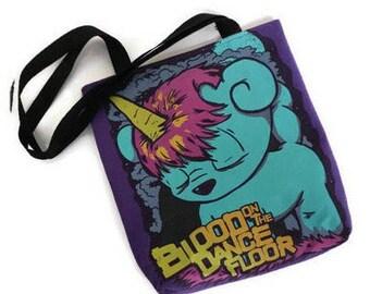 Blood on the Dance Floor Bag • BOTDF Tshirt Tote Bag • Upcycled Bag •