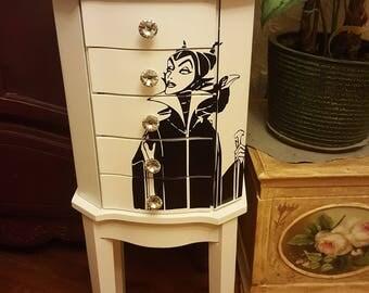 jewelry armoire , standing jewelry box, jewelry organizer, jewelry cabinet, jewelry storage, Maleficent
