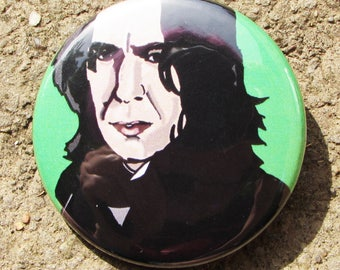 Professor Severus Snape Digital Artwork Portrait 38mm Badge