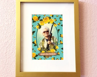 Saint Ann Richards Print // 5x7 Original Collage Art