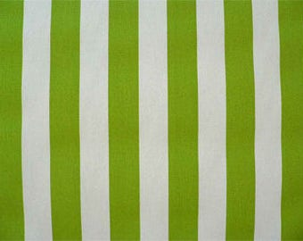 Handmade Curtain Window Valance, 50W X 15L In Lime Green/Chartreuse/White  Stripe