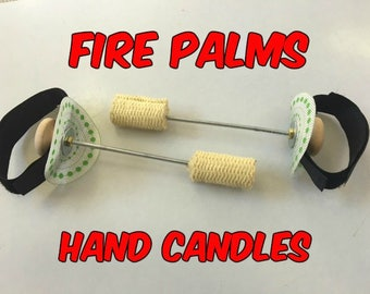 Palm Torches - Fire Palms - Palm Candles - Hand Candles - Fire POI Toys