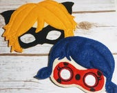 Lady Bug/Cat Pretend Play Masks, Handmade Mask, Dress Up, Costume Mask,  Birthday Party Favors, Christmas, Heros
