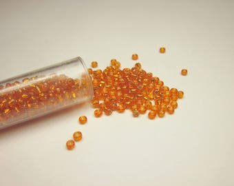 tube color (8-9 g) (R55) seed beads