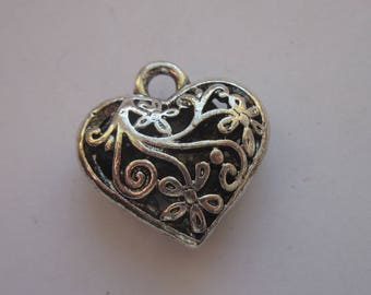 heart shaped charm pendant in Silver (13)